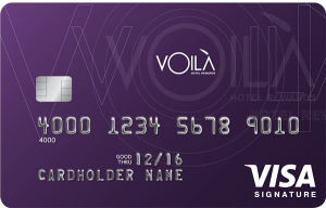 The VOILÀ Hotel Rewards Visa Signature Card